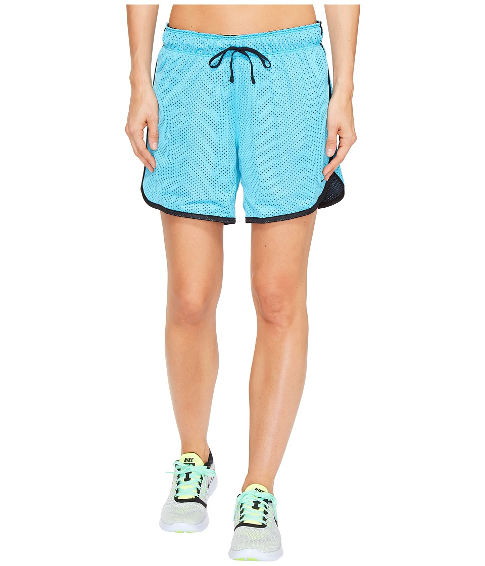 Nike - Dri-FITtm Drill Mesh Short (Chlorine Blue/Black/Black) Women's Shorts