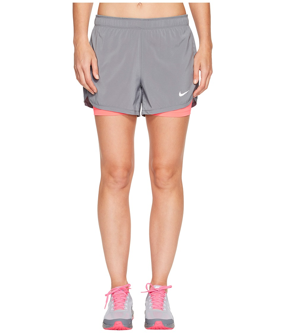 Nike - Flex 2-in-1 Training Short (Cool Grey/Racer Pink/White) Women's Shorts