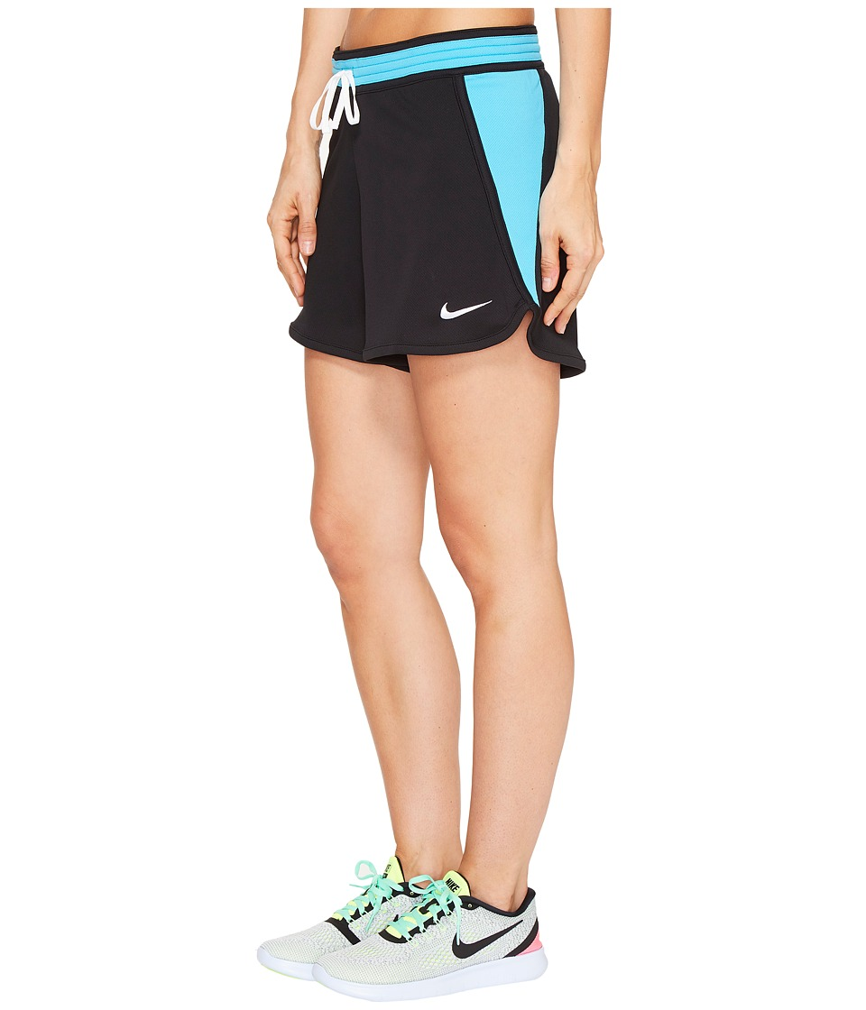 Nike - Dry Infiknit Short (Black/Chlorine Blue/White/White) Women's Shorts