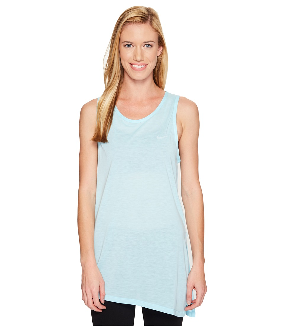 Nike - Breathe Training Tank (Still Blue/White) Women's Sleeveless