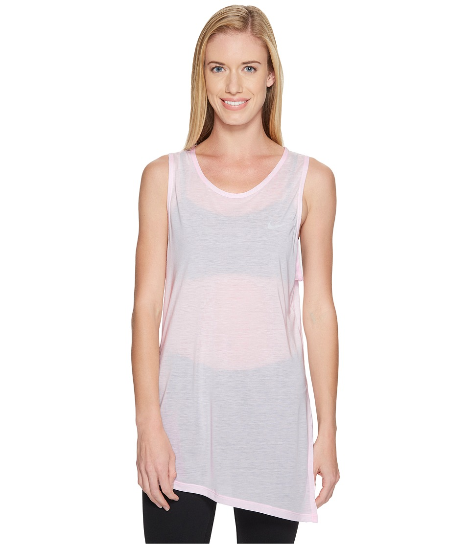 Nike - Breathe Training Tank (Prism Pink/White) Women's Sleeveless