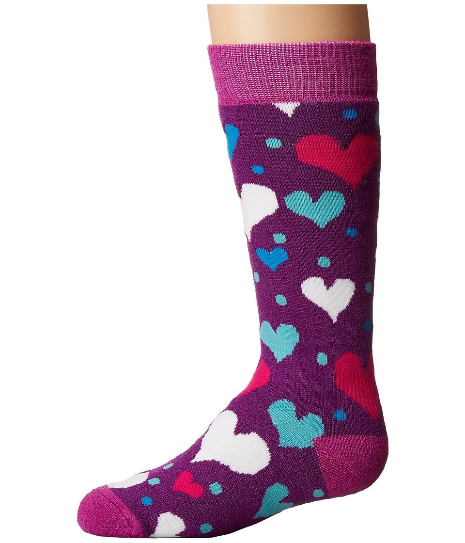 BULA - Kids Hearts Socks (Big Kid) (Violet) Women's Crew Cut Socks Shoes