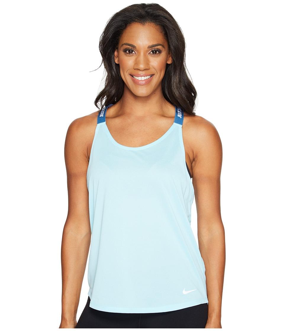 Nike - Dry Training Tank (Still Blue/Industrial Blue/White) Women's Sleeveless