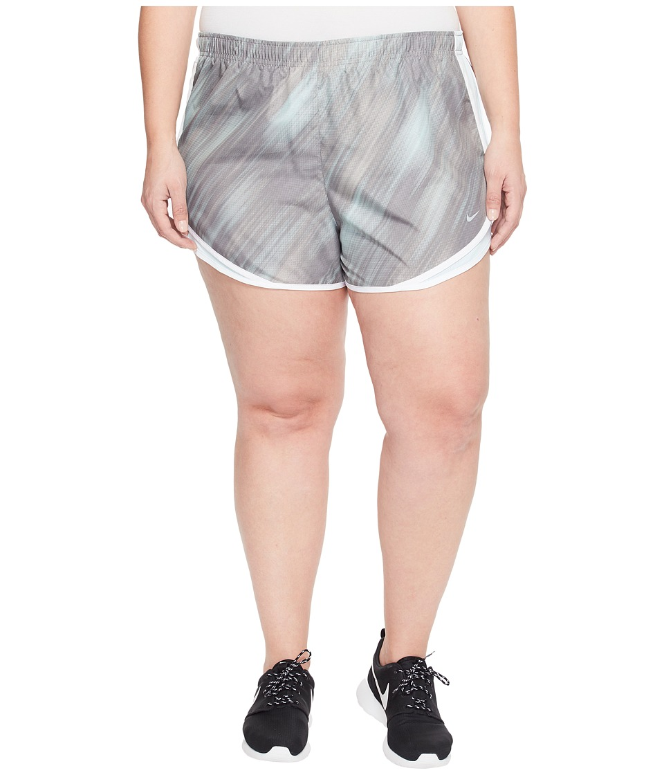 Nike - Dry Tempo 3 Print Running Short (Size 1X-3X) (Dust/Glacier Blue/White/Wolf Grey) Women's Shorts
