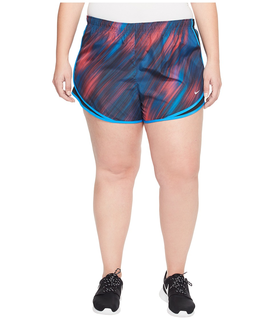 Nike - Dry Tempo 3 Print Running Short (Size 1X-3X) (Racer Pink/Black/Racer Pink/Wolf Grey) Women's Shorts
