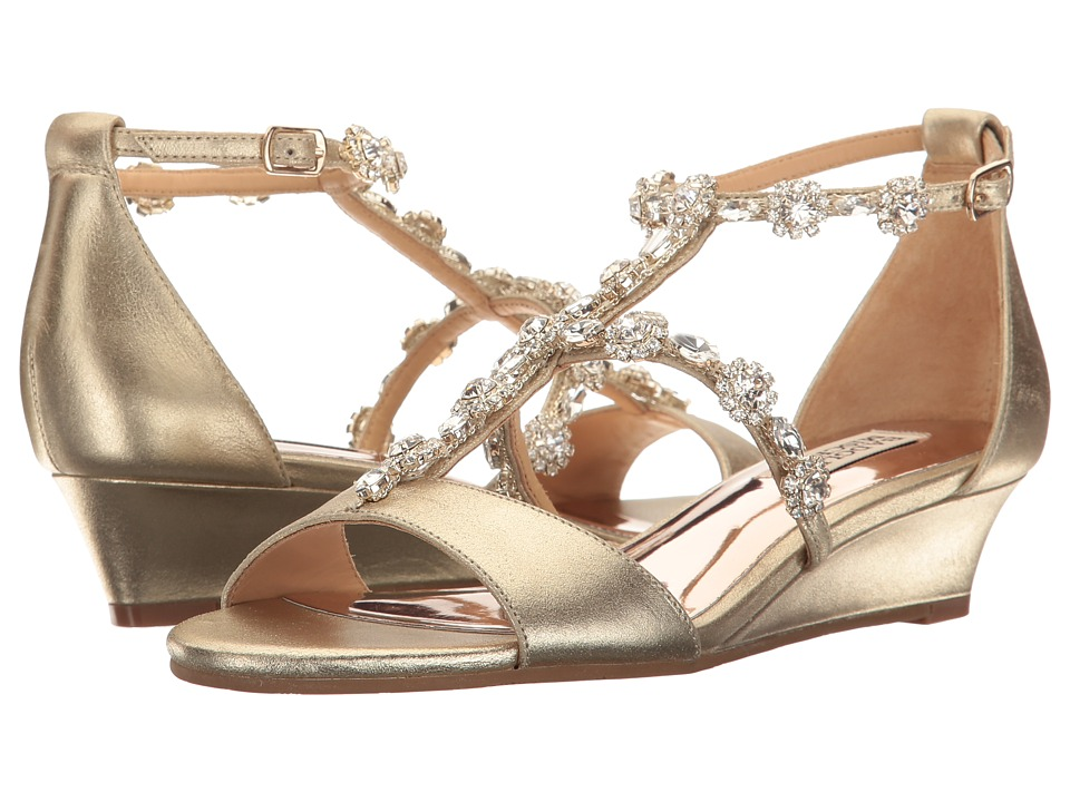 Badgley Mischka Terry II (Platino Metallic Suede) Women