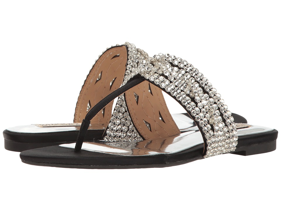 Badgley Mischka - Trent (Black Satin) Women's Sandals