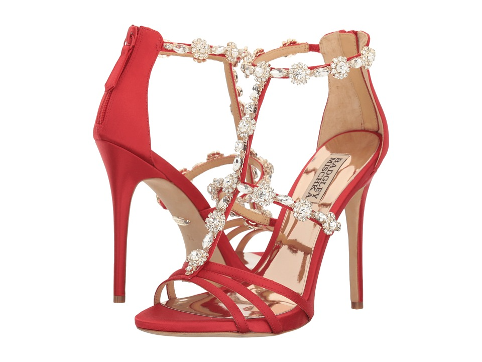 Badgley Mischka - Thelma (Strawberry Satin) High Heels