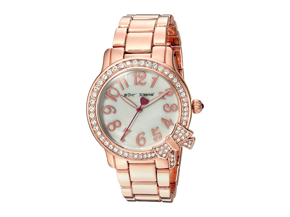 Betsey Johnson - BJ00562-05 - Crystal Bezel Bow (Rose Gold) Watches