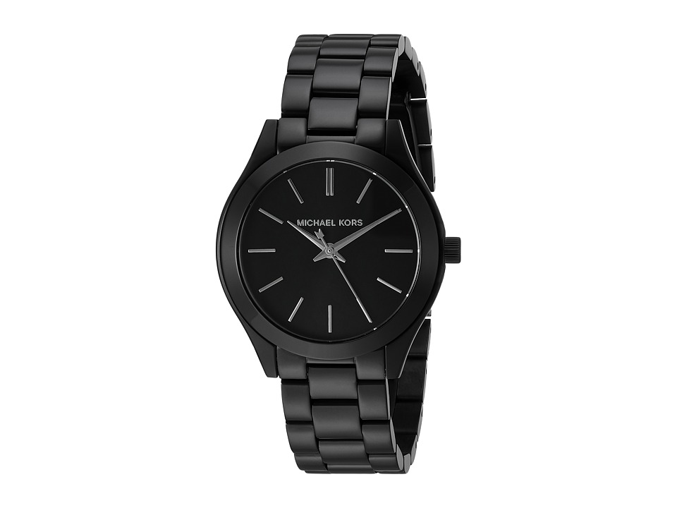 Michael Kors - MK3587 - Mini Slim Runway (Black) Watches