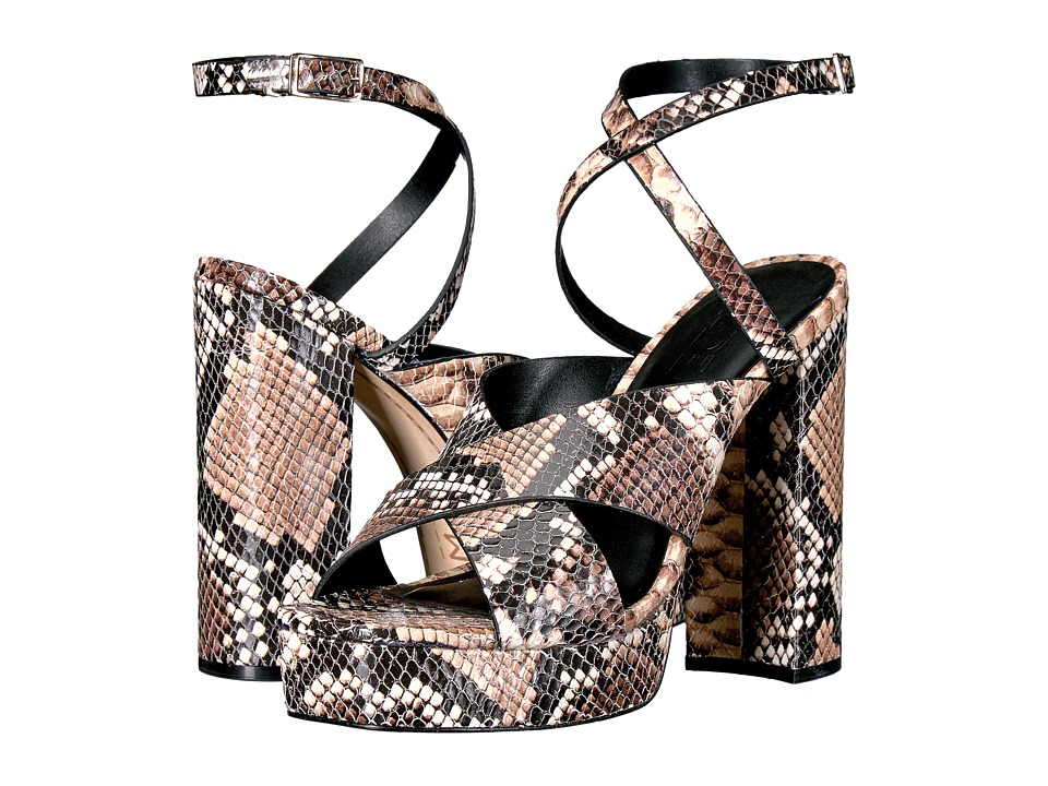 M4D3 Pricilla (Dusty Rose Snake Embossed Leather) High Heels