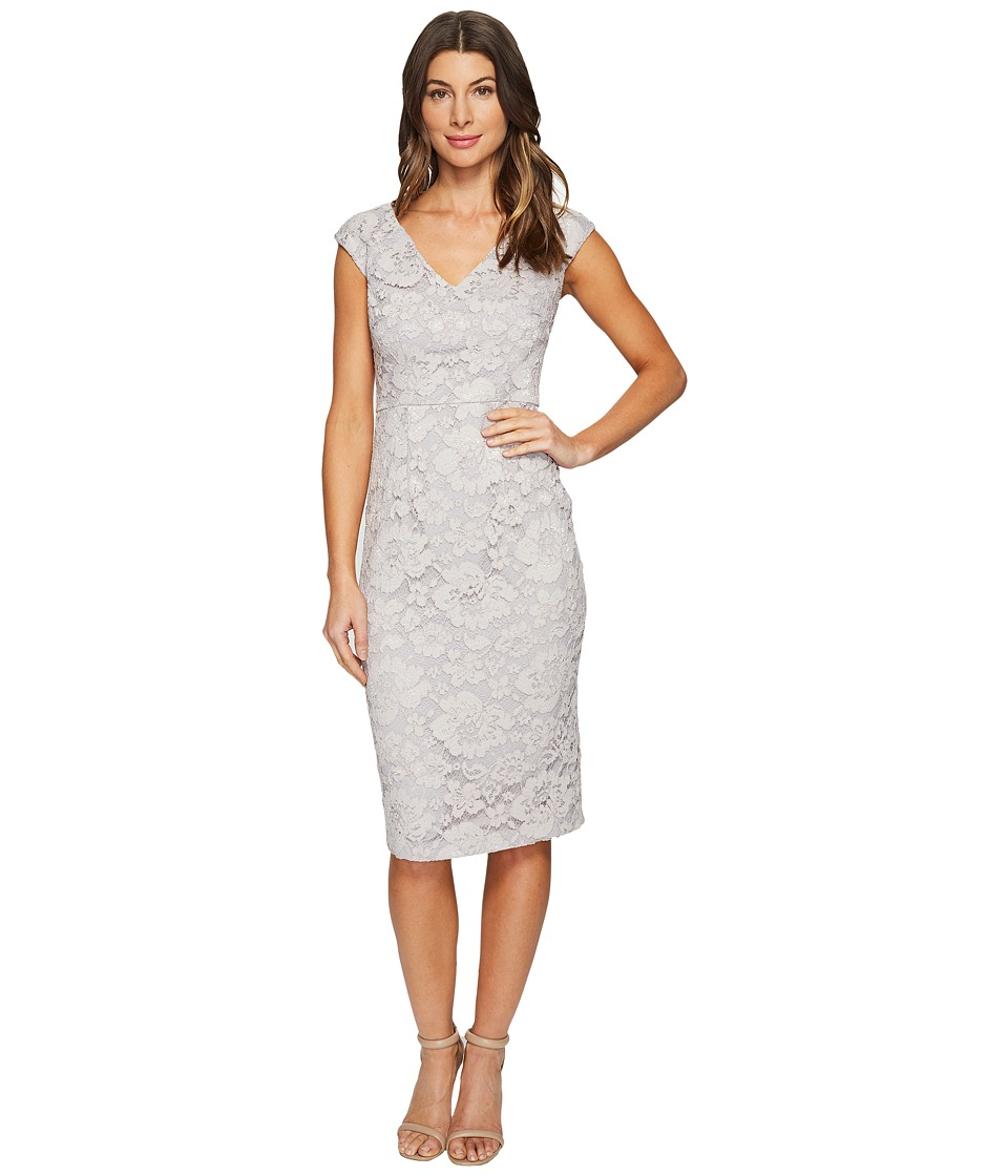 Maggy London - Rose Garden Lace Sheath (Taupe) Women's Dress