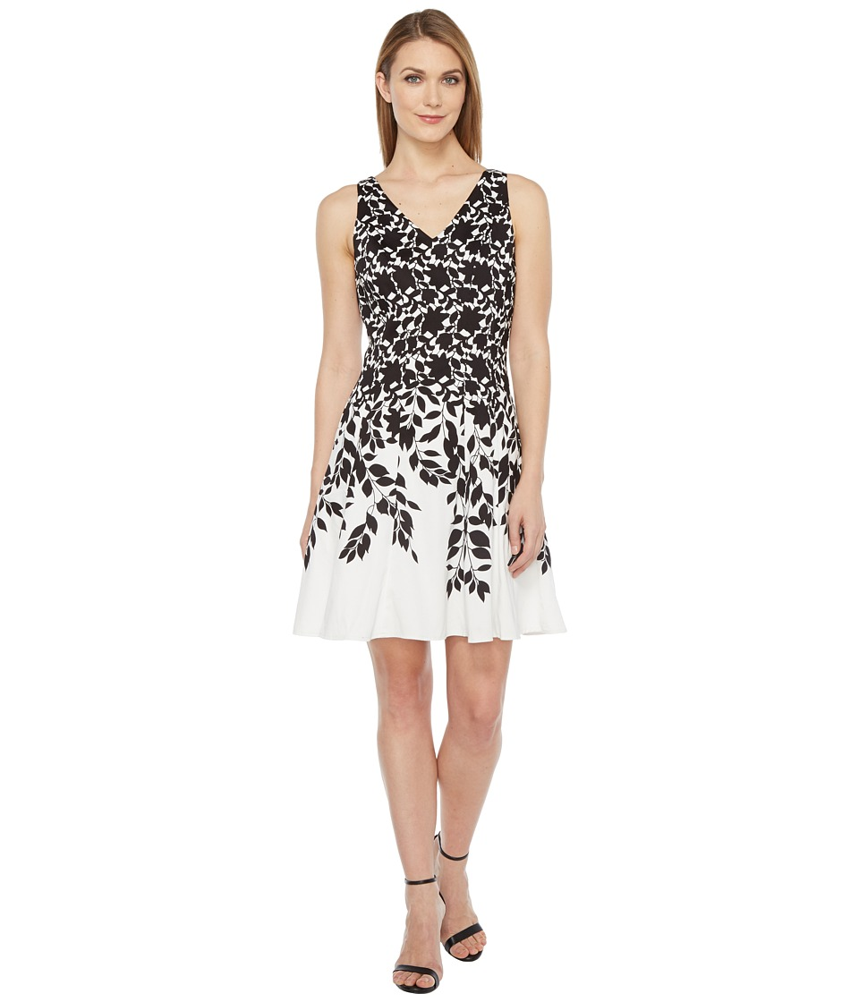Maggy London Lace Leaf Border Fit and Flare Dress
