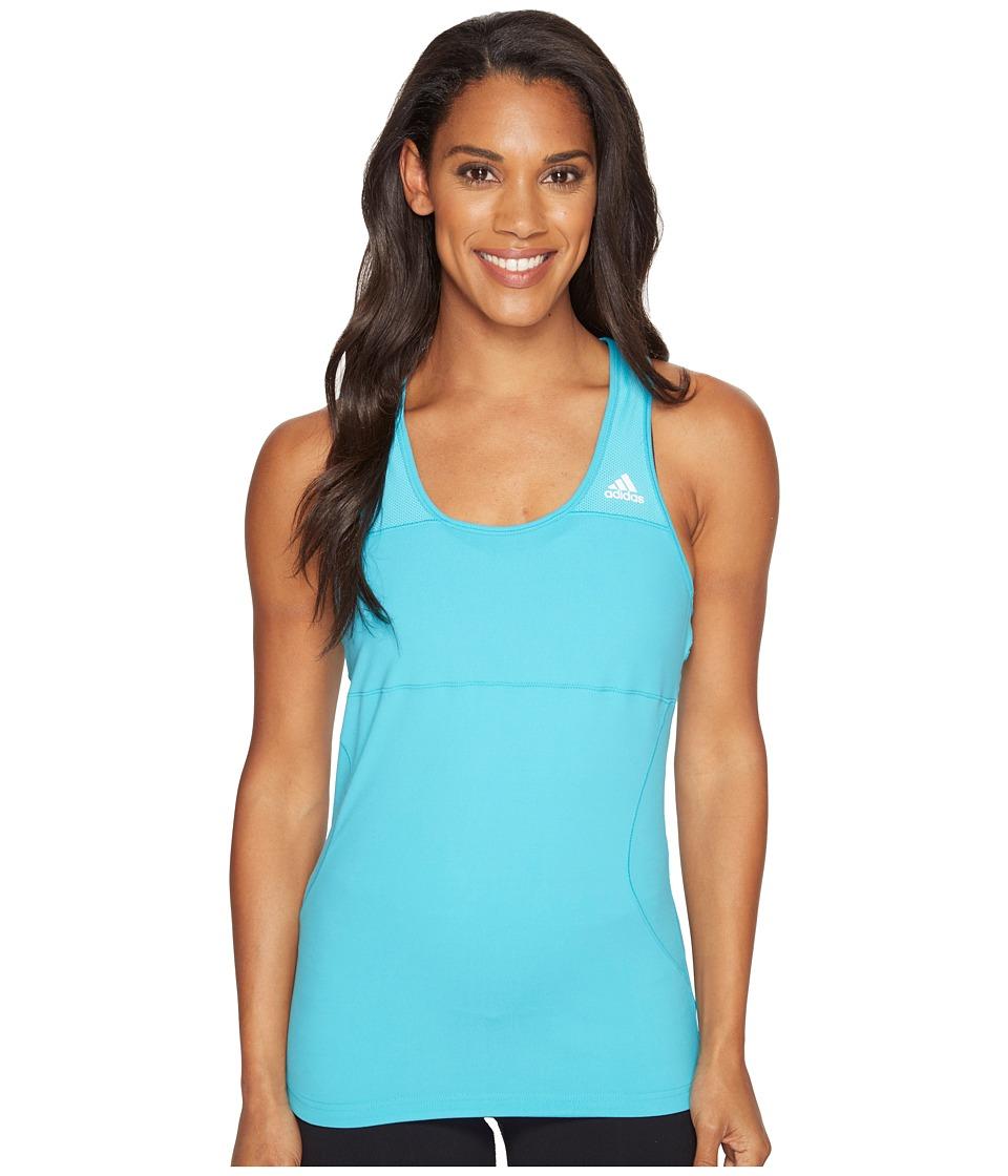 adidas - Cross Tank Top (Energy Blue) Women's Sleeveless