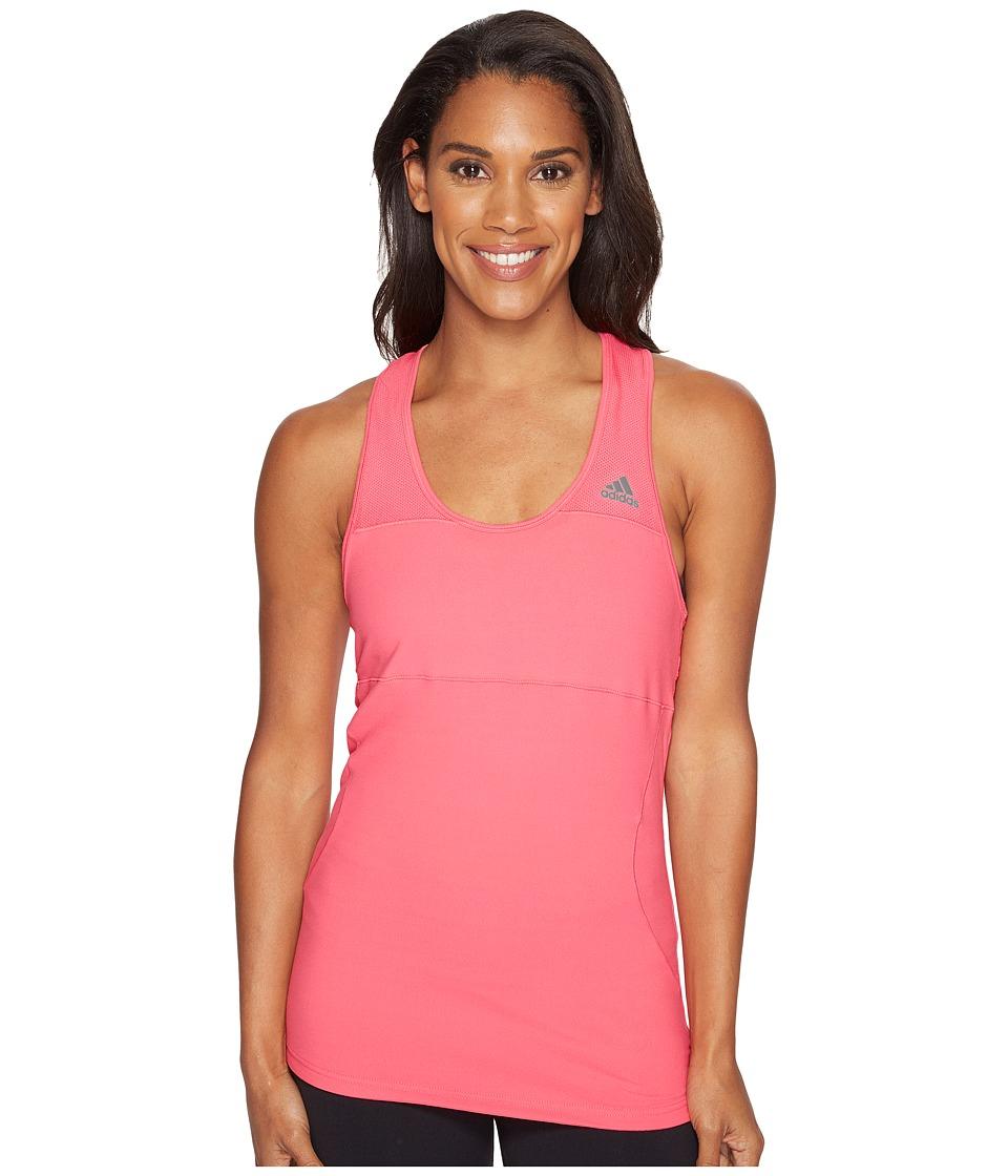 adidas - Cross Tank Top (Super Pink) Women's Sleeveless