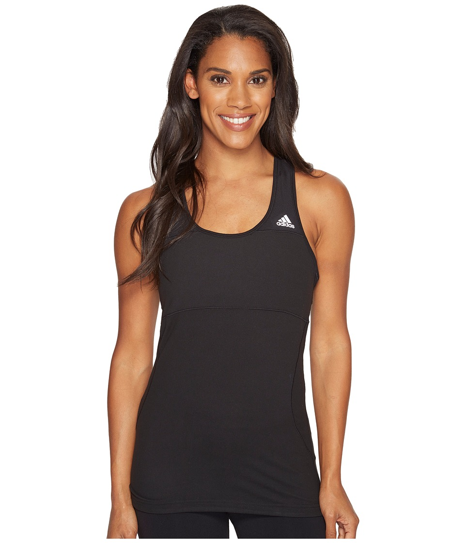 adidas - Cross Tank Top (Black) Women's Sleeveless