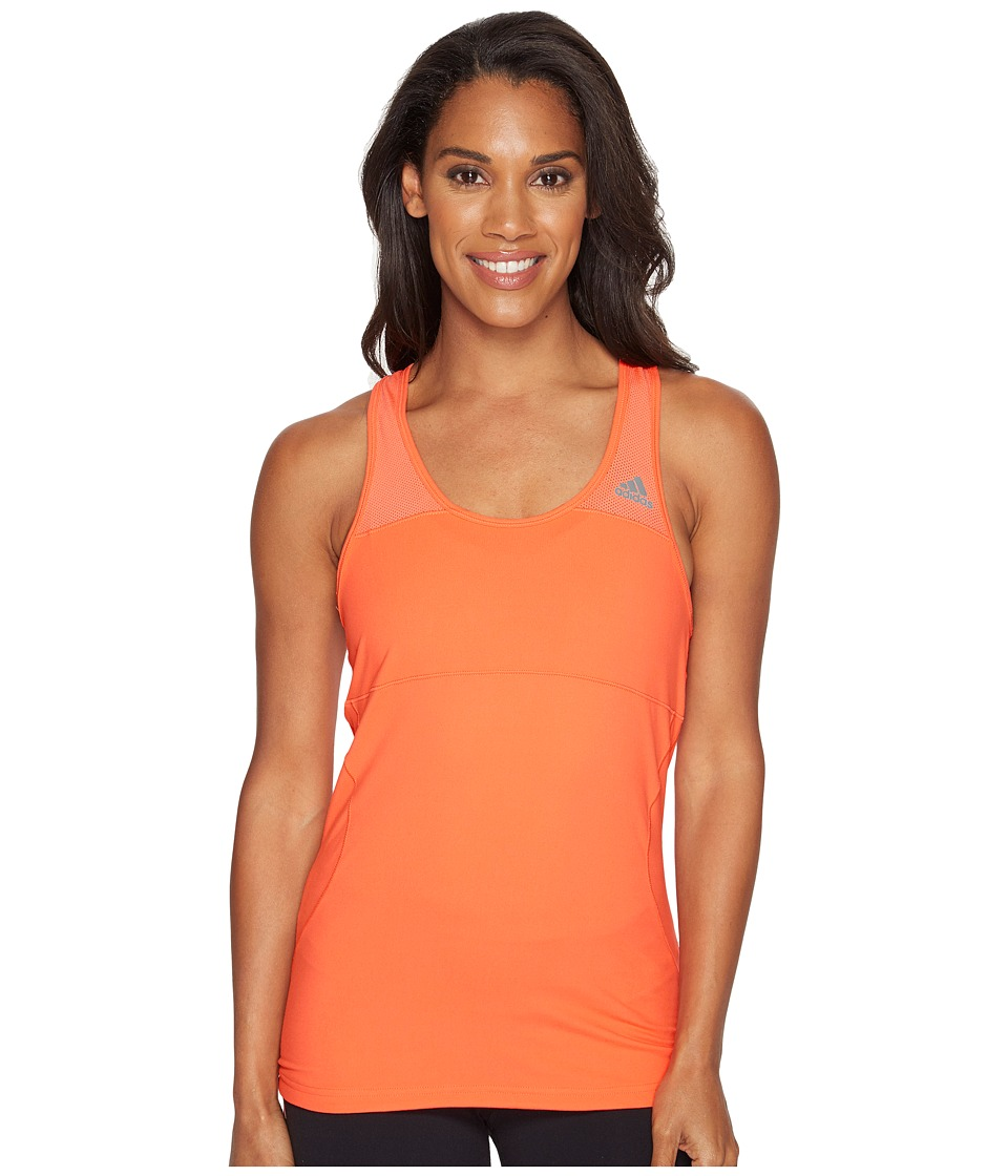 adidas - Cross Tank Top (Easy Coral) Women's Sleeveless