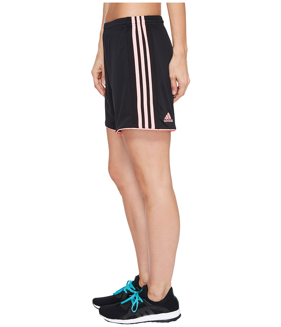 adidas - Tastigo 17 Shorts (Black/Light Flash Red) Women's Shorts