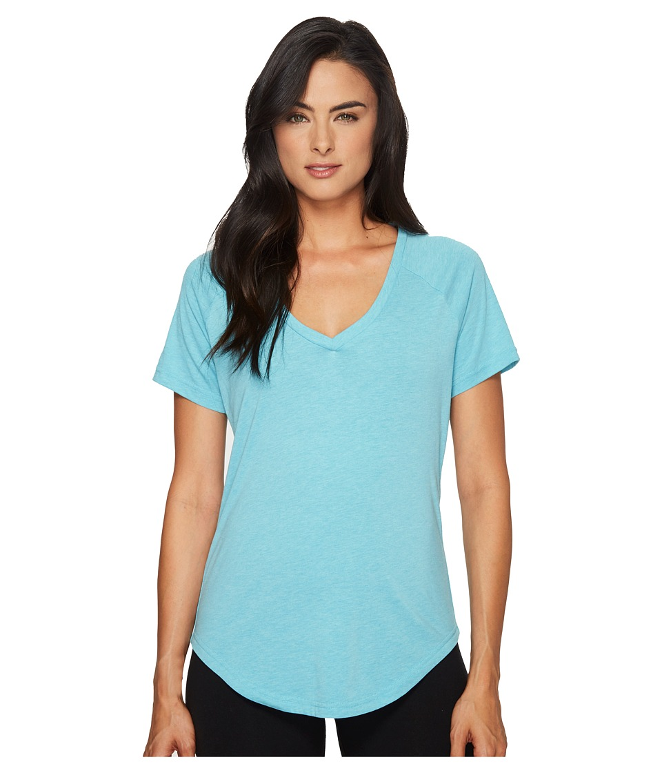 adidas - ID V-Tee (Lab Green) Women's Short Sleeve Pullover