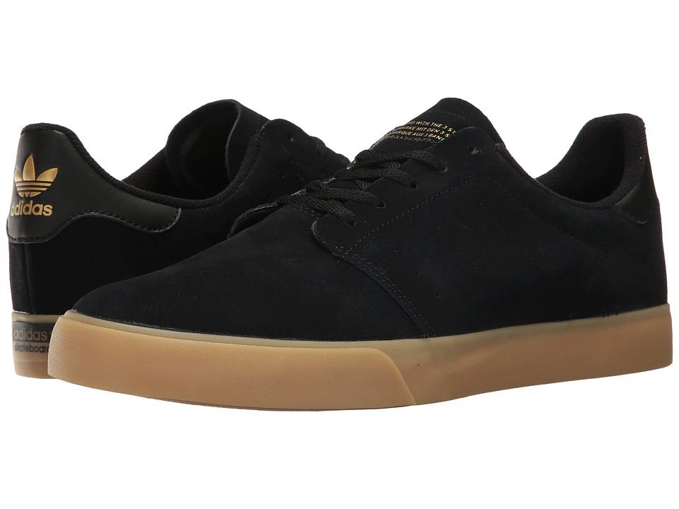 adidas Skateboarding - Seeley Court (Core Black/Gum/Gold Metallic) Men's Skate Shoes