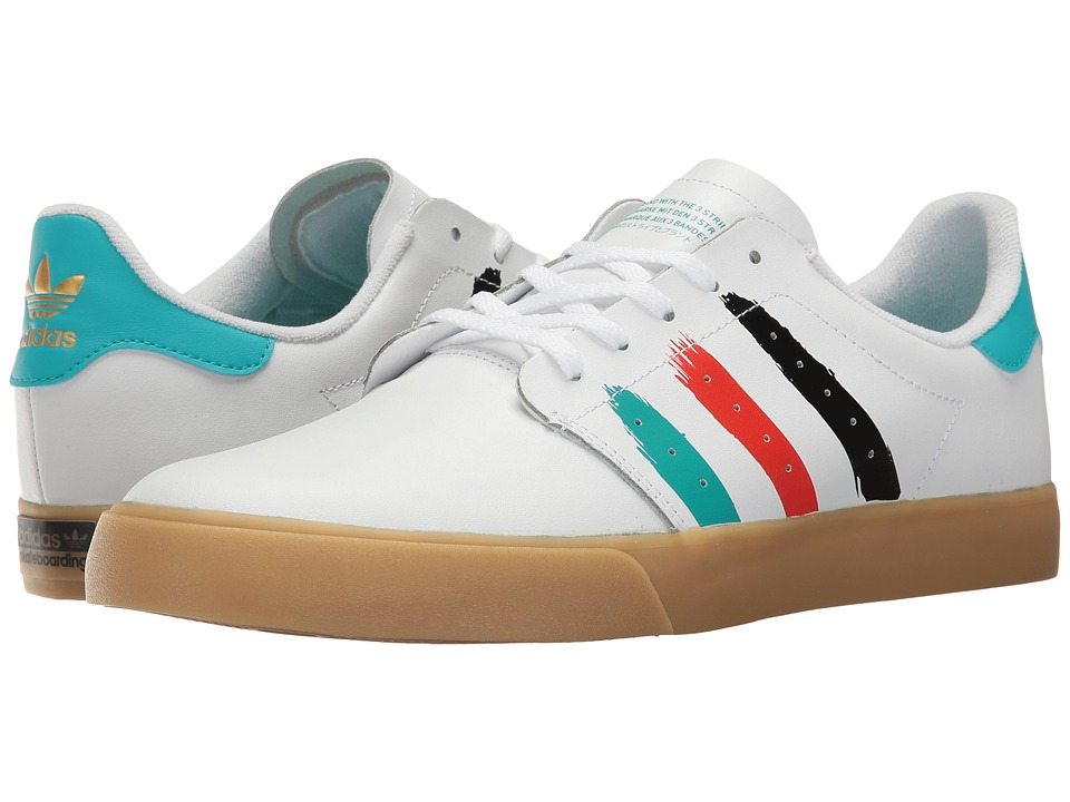 adidas Skateboarding - Seeley Court (Footwear White/Energy Blue/Energy Blue) Men's Skate Shoes