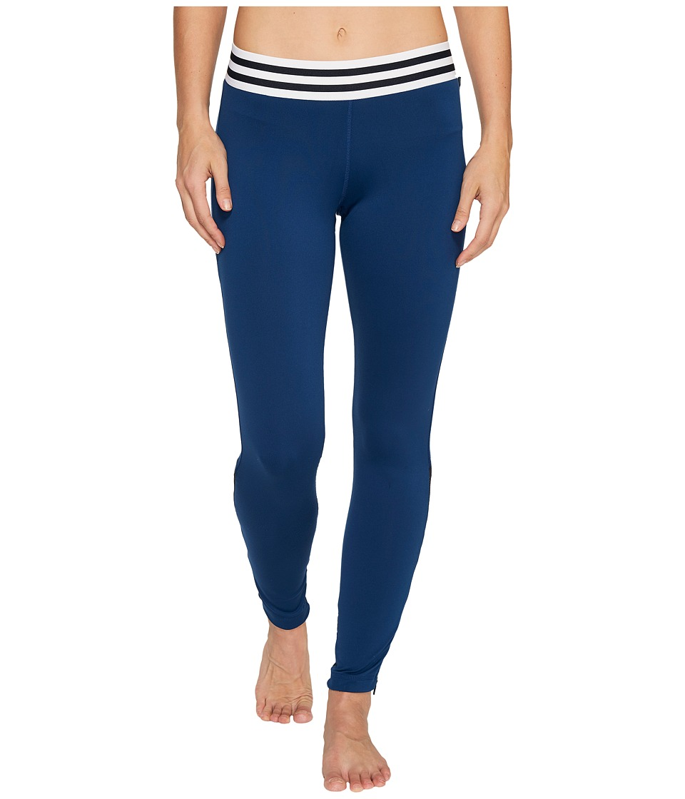adidas - Sport ID Zipper Leggings (Mystery Blue) Women's Workout