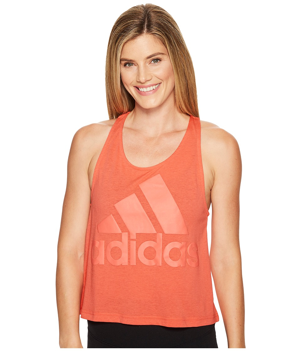 adidas - Image Tank Top (Easy Coral) Women's Sleeveless