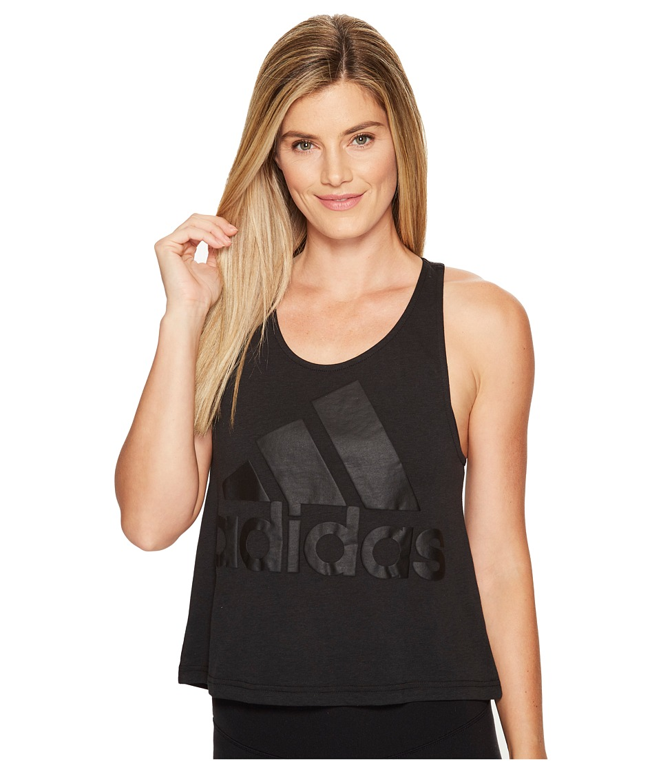 adidas - Image Tank Top (Black) Women's Sleeveless