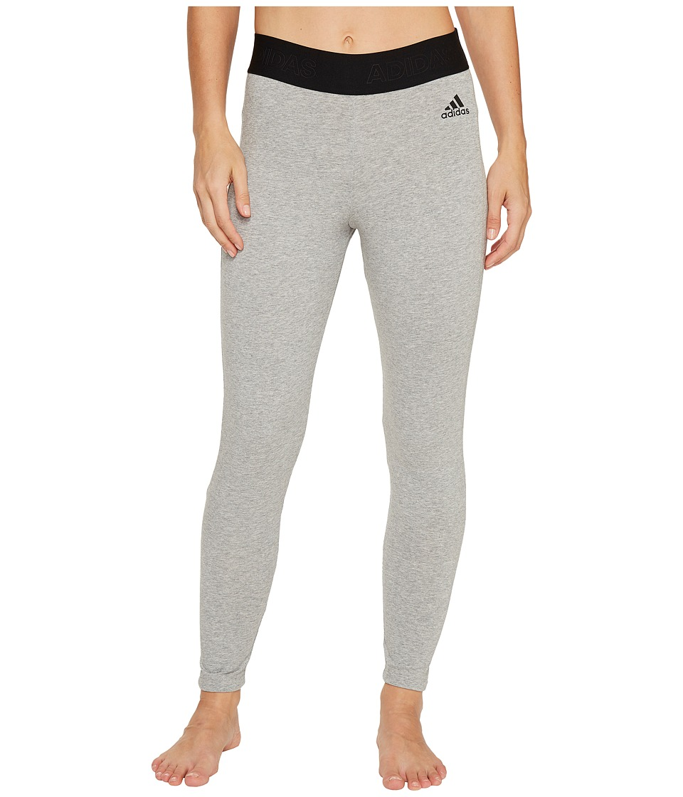 adidas - Away Day Tights (Medium Grey Heather) Women's Workout