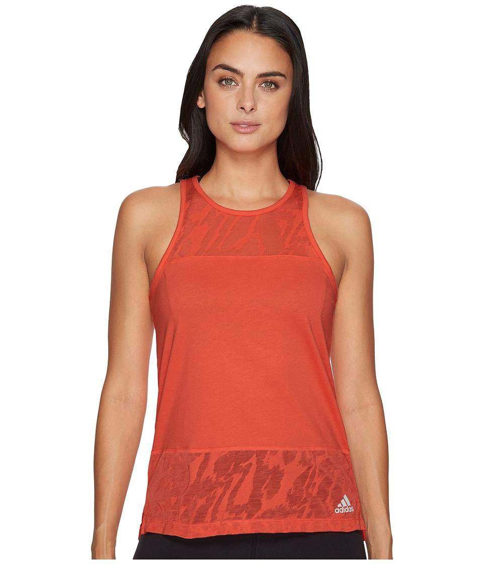 adidas - Ikat Tank Top (Easy Coral) Women's Sleeveless