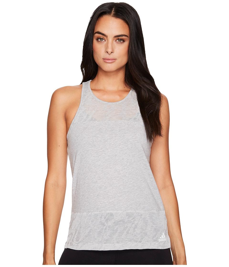 adidas - Ikat Tank Top (Medium Grey Heather) Women's Sleeveless