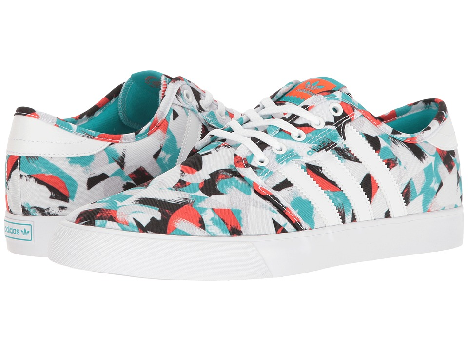 adidas Skateboarding - Seeley (Footwear White/Energy Blue/Energy Blue) Men's Skate Shoes