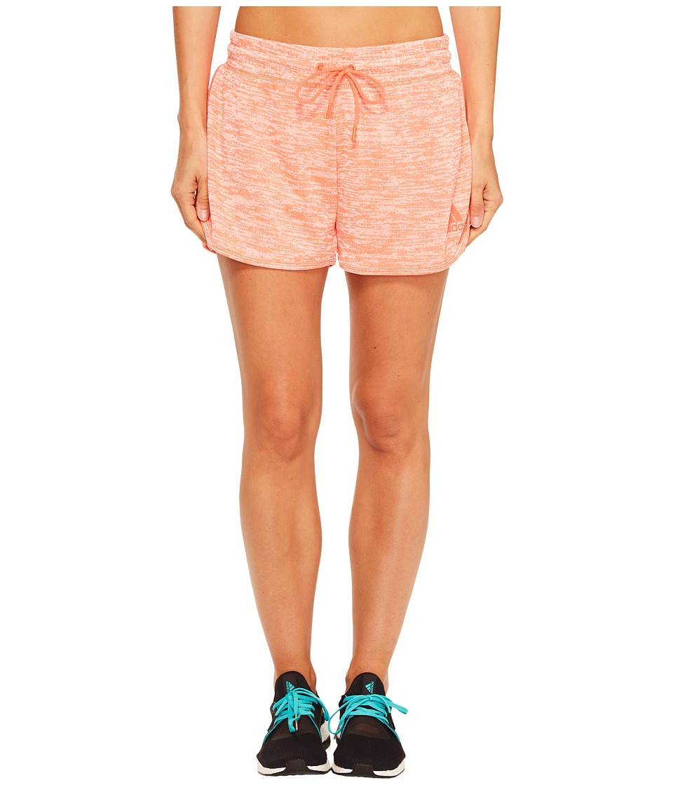 adidas - Sport-2-Street Shorts (Easy Coral) Women's Shorts