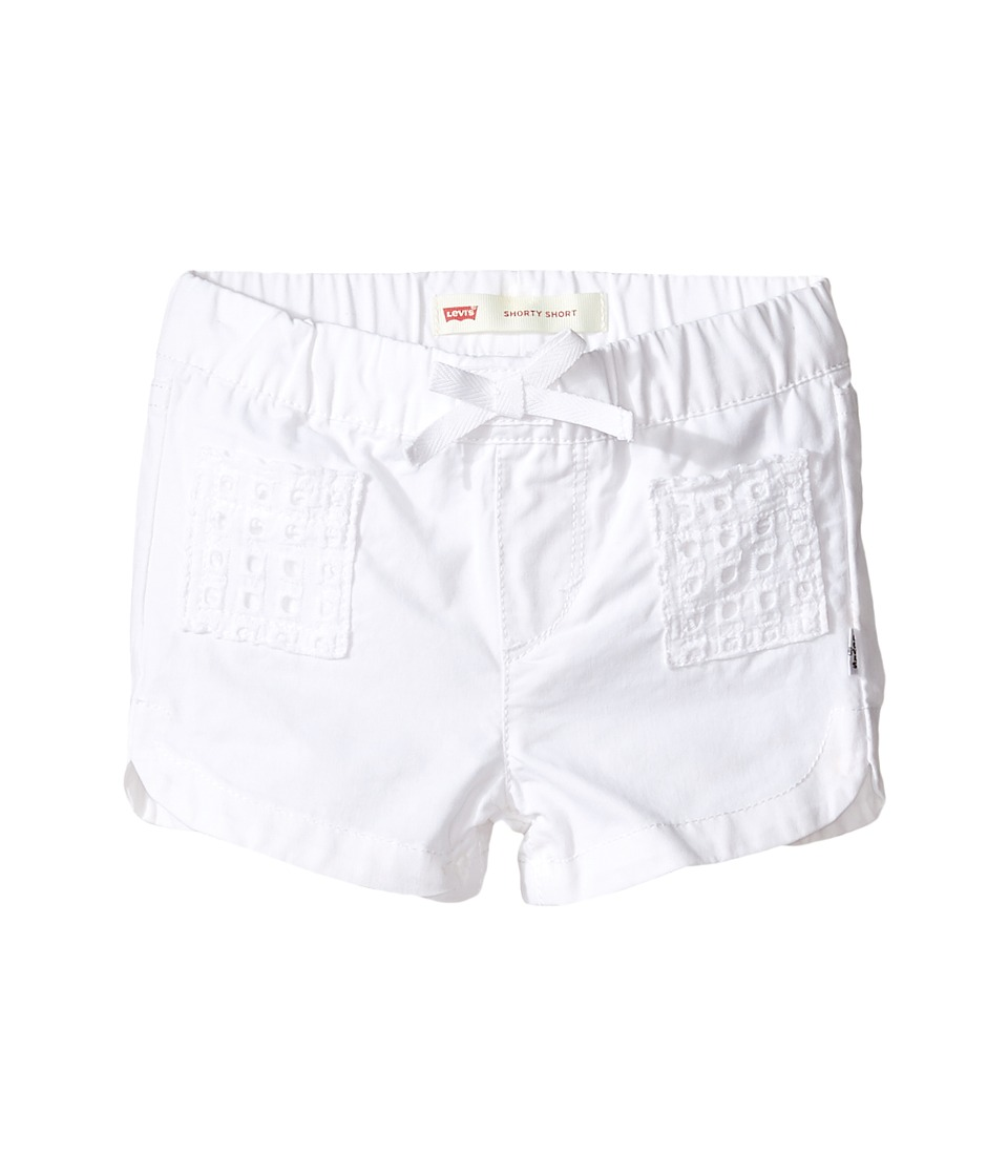 Levi's(r) Kids - Dolphin Shorty Shorts (Toddler) (White) Girl's Shorts