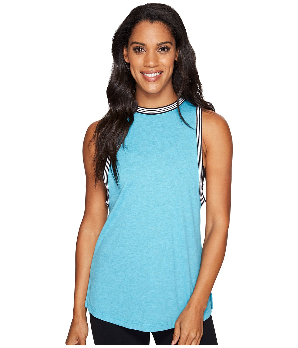 adidas - Ringer Tank (Lab Green Melange) Women's Sleeveless