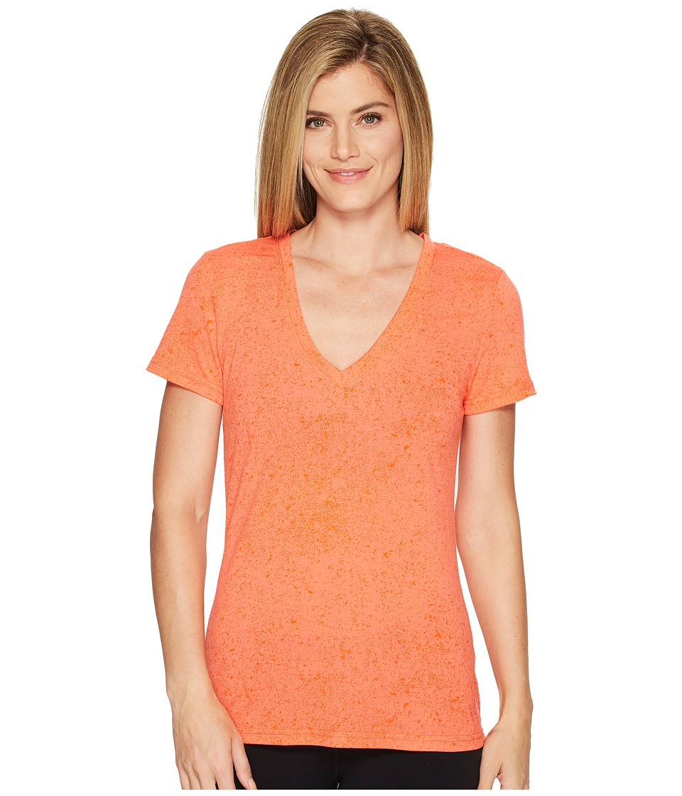 adidas - Flecks Deep-V Tee (Easy Coral) Women's T Shirt