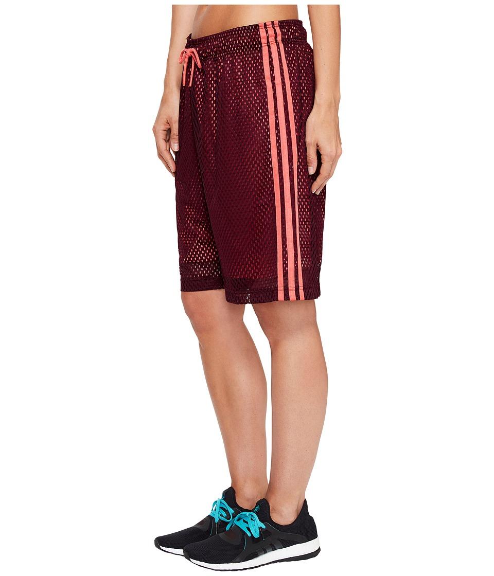 adidas - Baseline Basketball Shorts (Maroon/Energy) Women's Shorts