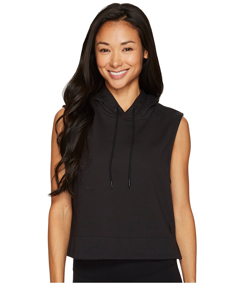 adidas - Sleeveless Pullover Hoodie (Black) Women's Sleeveless
