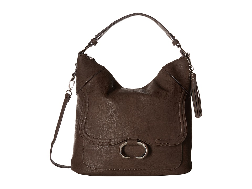 Jessica Simpson - Estelle Crossbody Hobo (Chocolate) Hobo Handbags