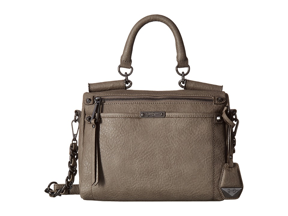 Jessica Simpson - Deven Small Frame Satchel Crossbody (Steel) Satchel Handbags
