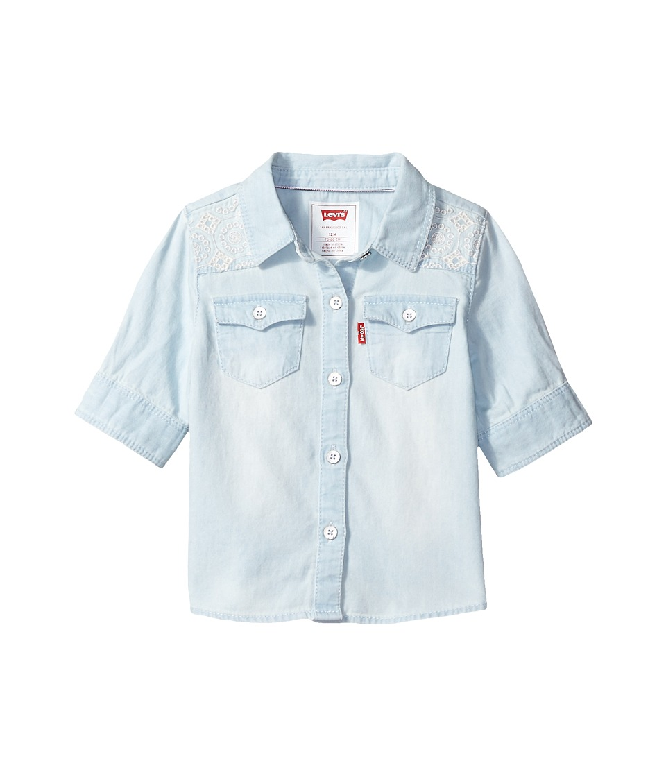 Levi's(r) Kids - The Western 3/4 Sleeve Denim Top (Infant) (Bleach Out) Girl's Clothing