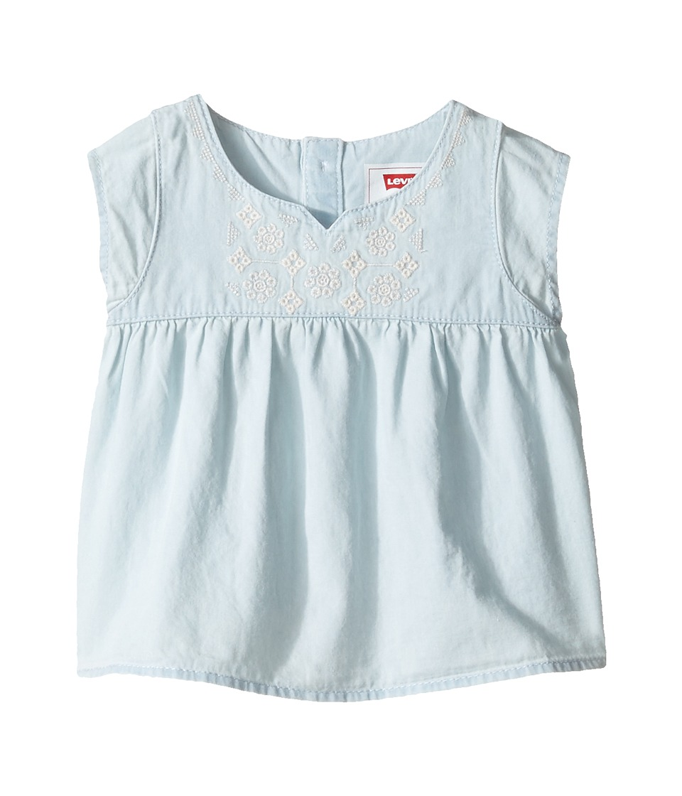 Levi's(r) Kids - Peasant Top (Infant) (Bleach Out) Girl's Clothing