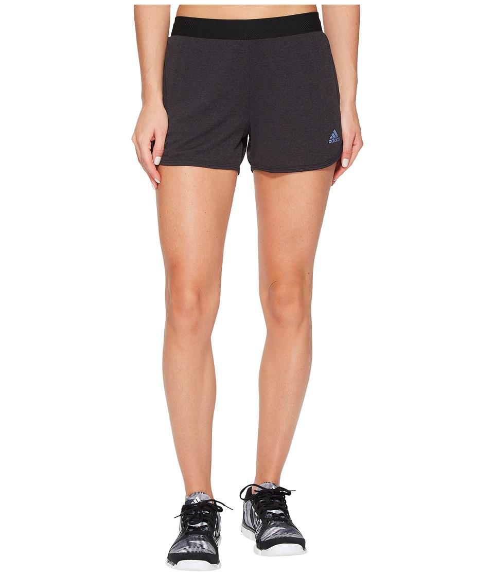 adidas - Climachill Shorts (Chill Black Melage) Women's Shorts
