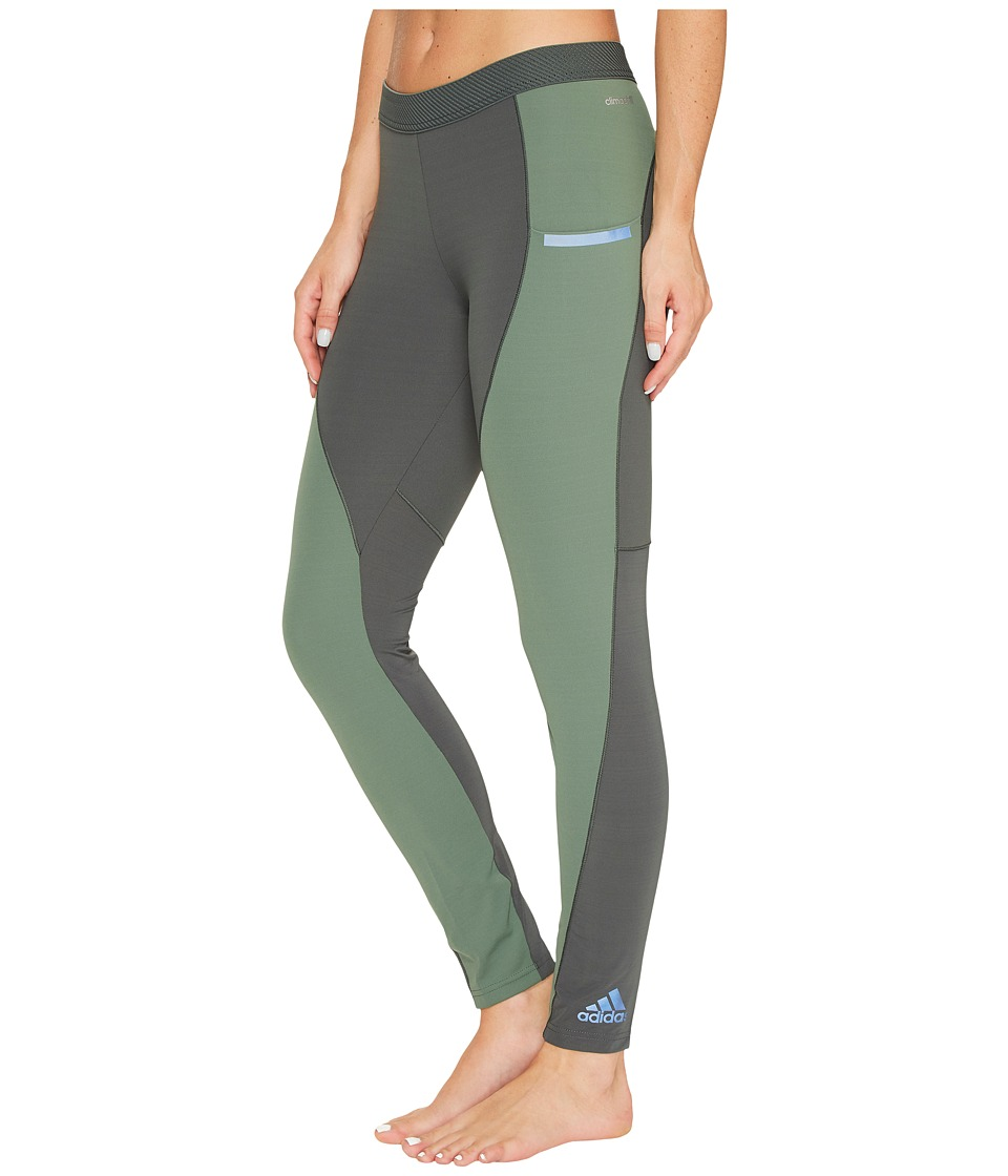 adidas - Climachilltm Tights (Utility Ivy) Women's Workout