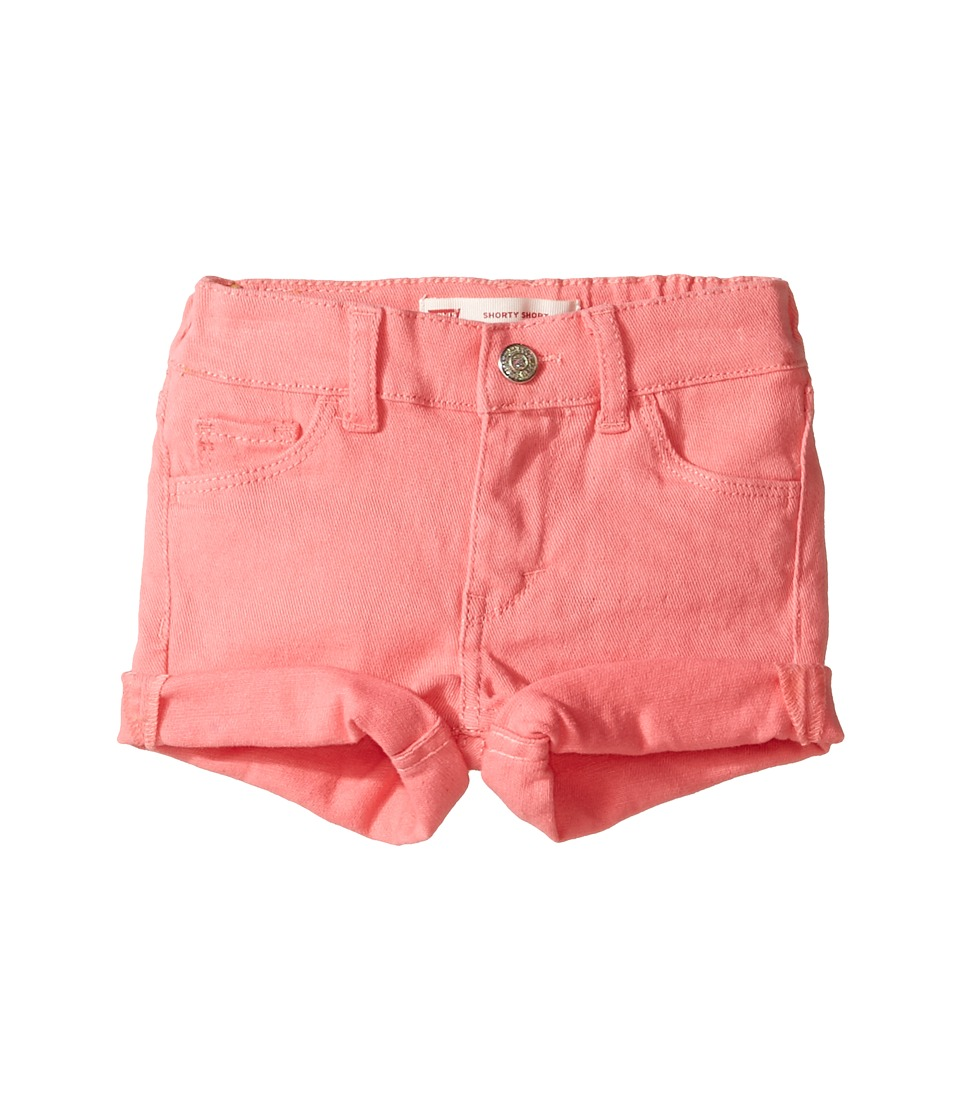 Levi's(r) Kids - Summer Love Shorty Shorts (Infant) (Strawberry Pink) Girl's Shorts