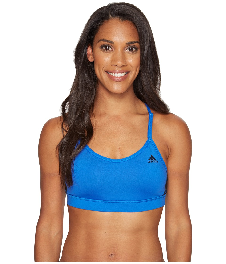 adidas - Strappy Bra 3S (Blue/Black) Women's Bra