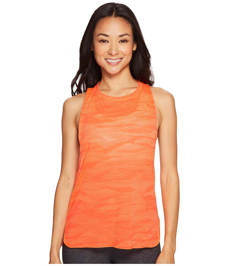 adidas - Boxy Tank - Aeroknit (Easy Coral/Glow Orange) Women's Sleeveless