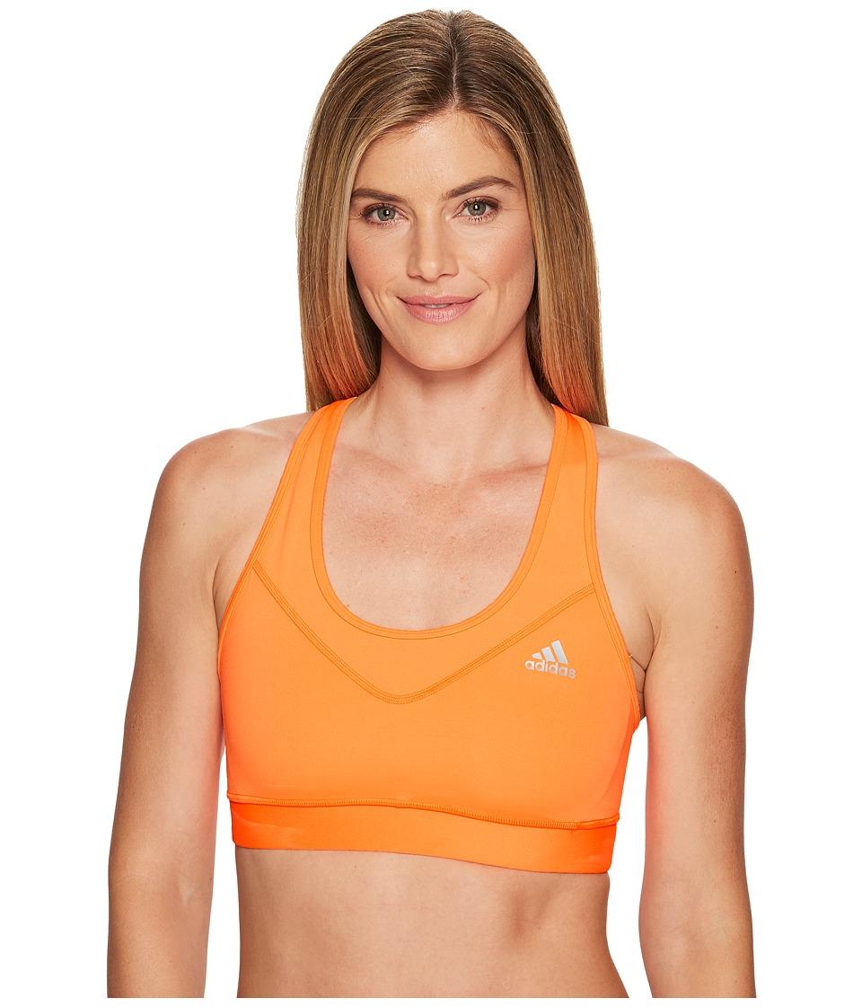 adidas - Techfit Bra (Glow Orange/Matte Silver) Women's Bra