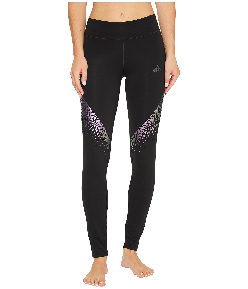 adidas - Ultimate Rainbow Long Tights (Black/Multicolor Print) Women's Workout