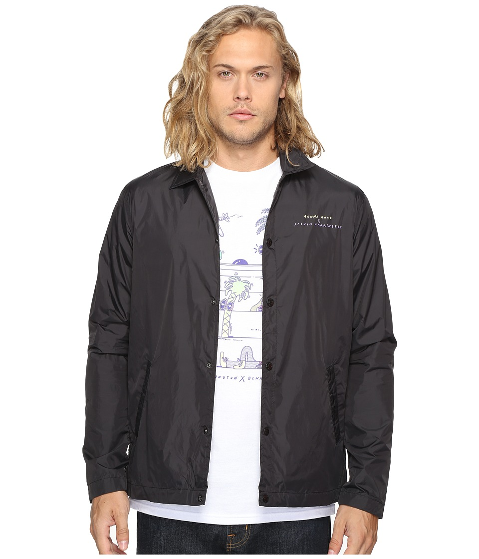 Benny Gold - Harrington Premium Coach Jacket (Black) Men's Jacket